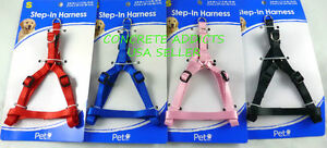 Pet-Inc-Step-In-Dog-Harness-SMALL-3-8-W-X-11-5-18-Black-Red-Pink-or-Blue