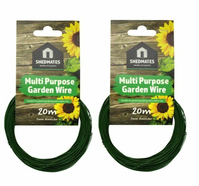 Multi Purpose kingfisher Garden Wire Plastic Coated 2mm x 20m Plant //tree