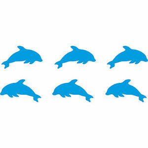 12-piezas-4cm-azul-claro-Delfines-tummler-Coche-Pegatina-Tatuaje-Die-Cut