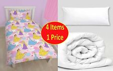 4 IN 1 -  Disney Princess Enchanting Junior Toddler Cot Bed Bedding Bundle Pack