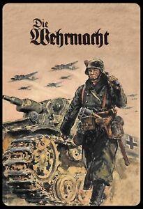 Die-Wehrmacht-Soldat-Panzer-Blechschild-Schild-Tin-Sign-20-x-30-cm-SM0045-X