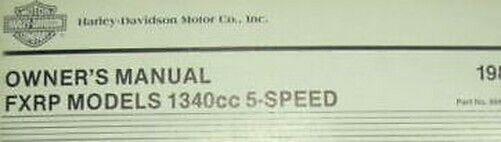 1985 Harley Davidson Fxrp Operatori Proprietari Owner Manuale Manuale Nuovo Vuoi Comprare Alcuni Prodotti Nativi Cinesi?