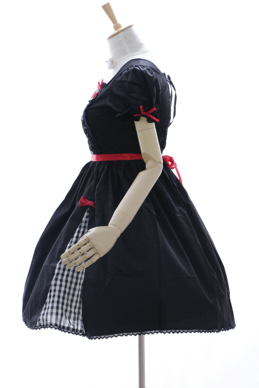 JL-626 Karo black Kleid Stretch Classic Gothic Lolita Kostüm Kostüm Kostüm dress Cosplay 28bb1a
