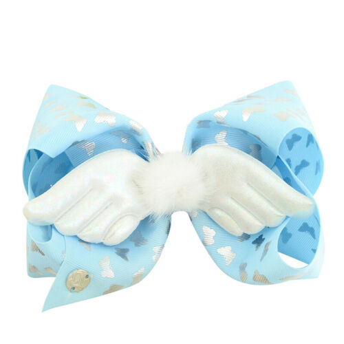 Toddler Baby Girls Sequin Big Bowknot Headband Hair Clips Cartoons Pattern Pins