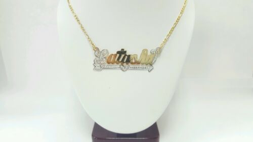 SPECIAL PRICE Quick Ship 10k Or 14k GOLD CUSTOM NAME PLATE WITH CHAIN AND DESIGN
