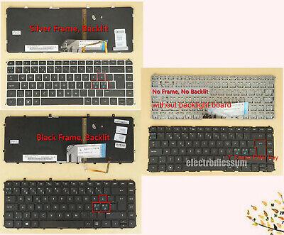 for HP ENVY 4-1080eo 4-1090eo 4-1101eo 4-1103eo Keyboard Nordic Black NO FRAME