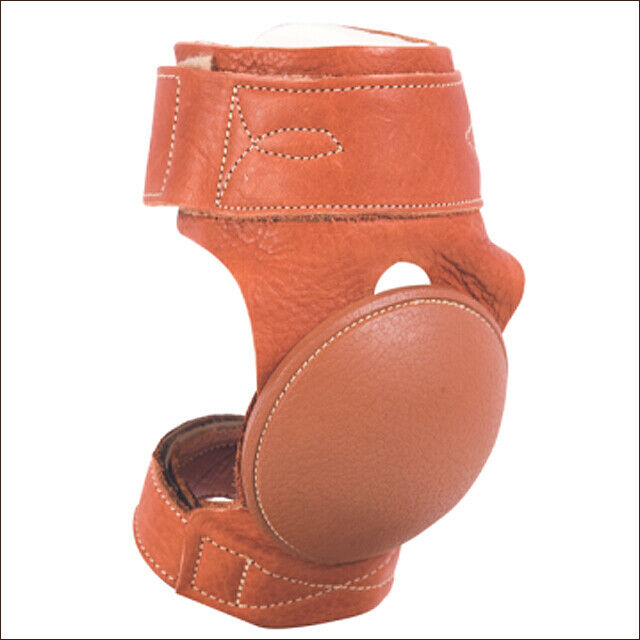 CACTUS ROPES WESTERN SOFT LEATHER HORSE LEG SKID Stiefel PAIR RUBBER CUP U-0C10
