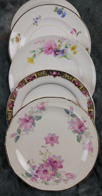 4 MISMATCHED FINE OLD VINTAGE CHINA CAKE/DESSERT/BREAD PLATES  WEDDING CPO4o