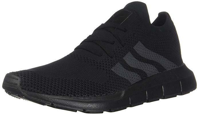 ADIDAS MEN SWIFT RUN PRIMEKNIT ATHLETIC RUNNING SHOES [CQ2893] BLACK BLACK