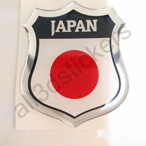 Pegatina-Japon-3D-Escudo-Emblema-Vinilo-Adhesivo-Resina-Relieve-Coche-Moto