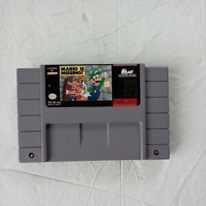 MARIO IS MISSING Super Nintendo SNES Game - Tested & Working + AUTHENTIC!