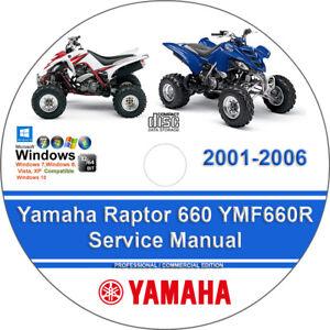 yamaha raptor 660 2003 factory service repair manual
