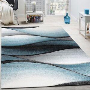 moderno-tappeto-grigio-verde-blu-geo-ONDULATE-motivo-morbido-stuoie-VIVENTE-AREA