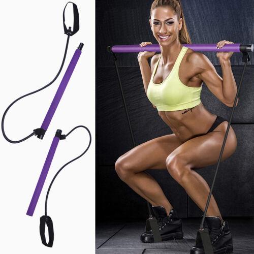 Portable Pilates Bar Kit with Resistance Band Pilates Exercise Stick Toning NEW