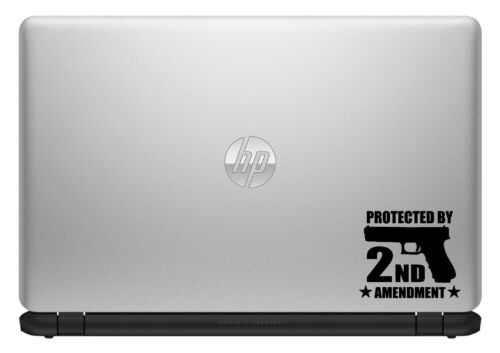 PROTECTED BY 2ND AMENDMENT 2A GUN RIGHTS VINYL DECAL STICKER