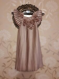 John-Rocha-Girl-039-s-Dress-age-5-pink-purple-BNWT-sequin-flower-detail