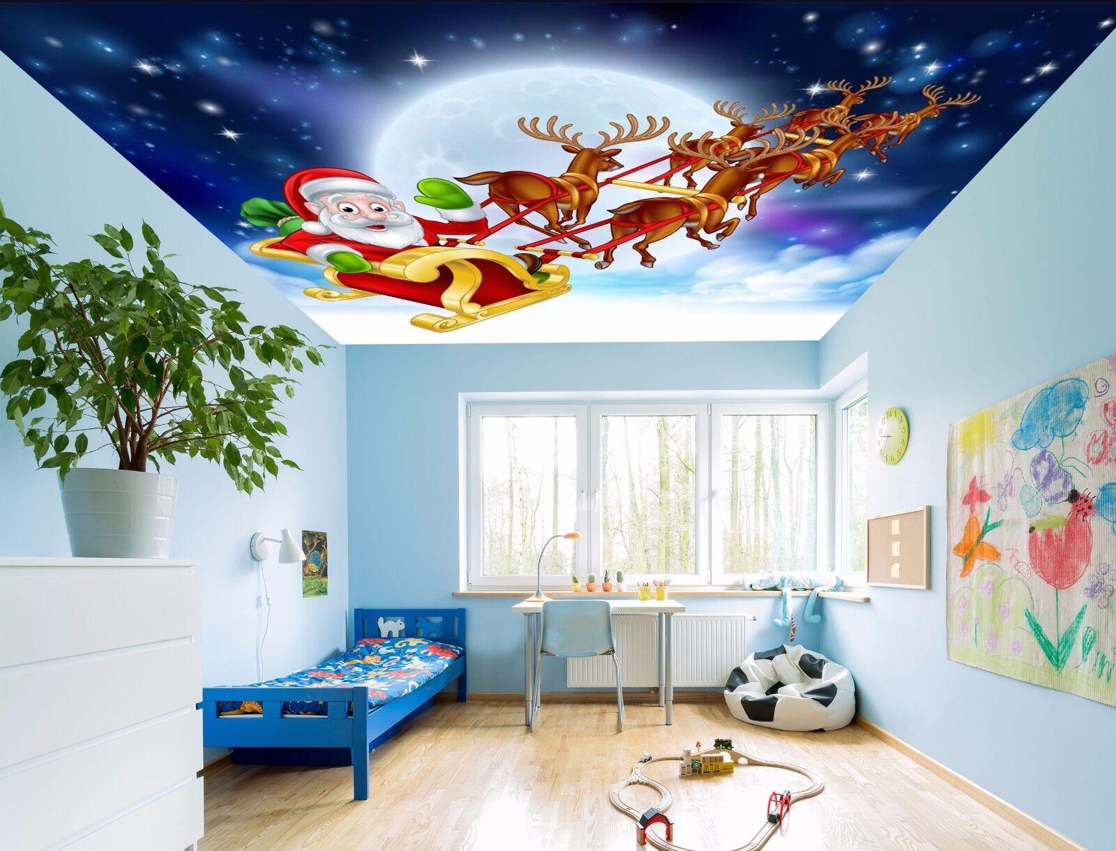 3D Moon Snow Ceiling WallPaper Murals Wall Print Decal Deco AJ WALLPAPER AU