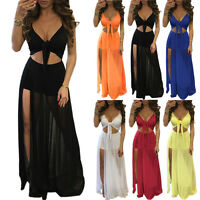Sexy Women's Summer Boho Long Maxi Evening Party Beach Holiday Dresses Sundress