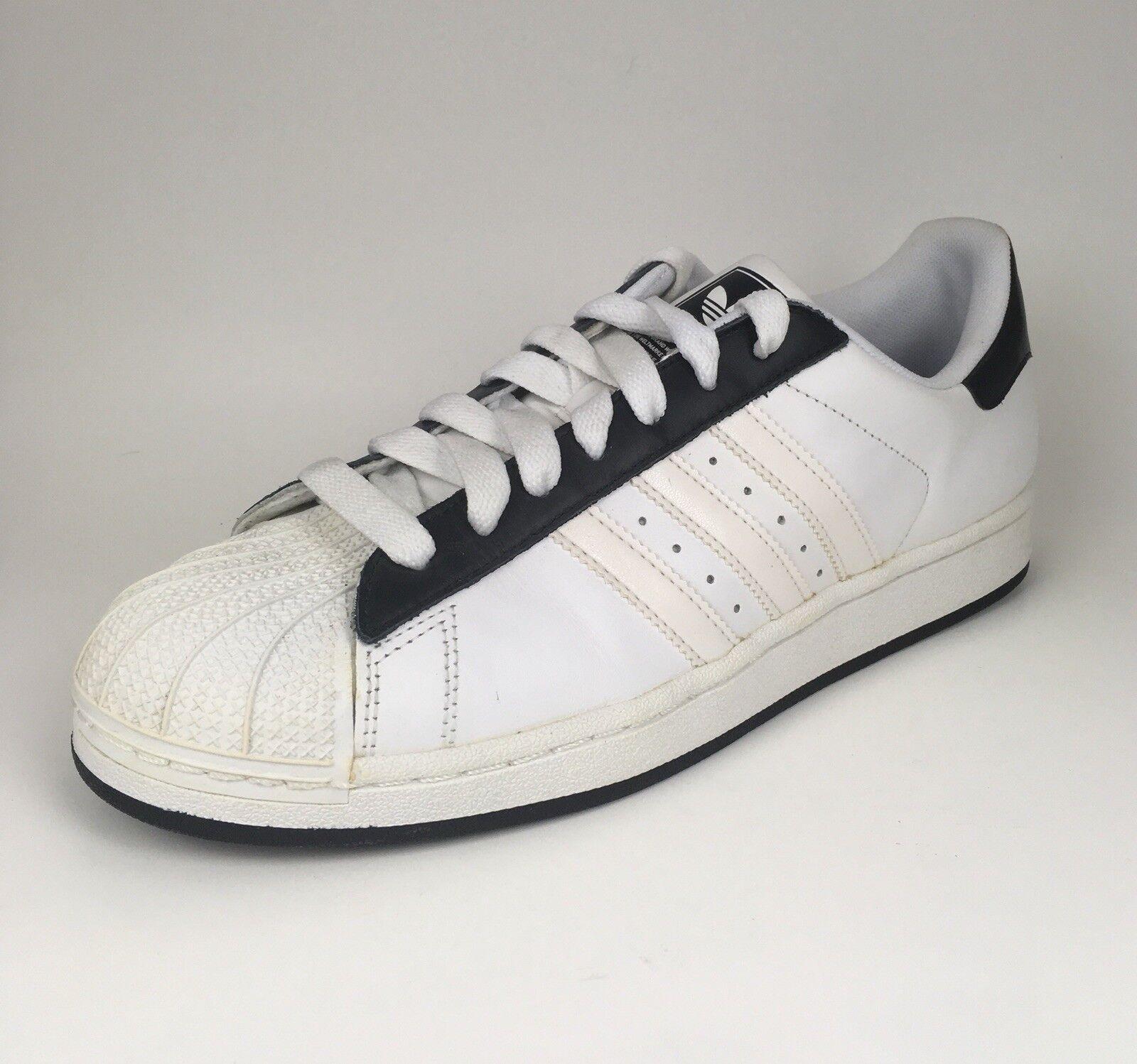 brand new 04dbd bc173 Adidas Hombre Superstar blanco   negro cuero nuevos Athletic Sneakers cómodos  zapatos nuevos cuero para hombres y mujeres, el limitado tiempo de descuento  ...