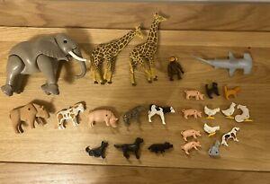 Paquete-De-Playmobil-Conjunto-de-Safari-y-animales-de-granja