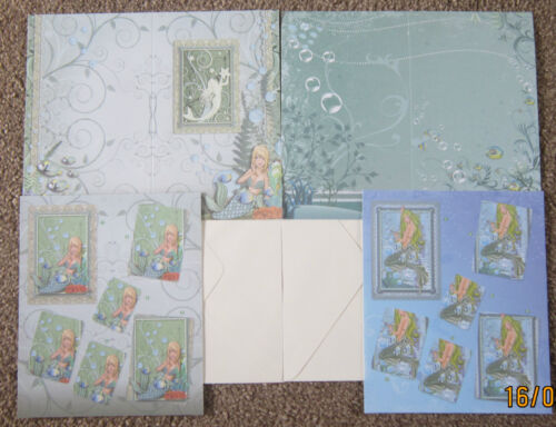 CREATE and CRAFT Decoupage Pack 2 Designs MERMAID KIT No.3 Encapsulated Glitter