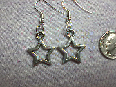 Wicca Silver Twinkle Little Star Astrology Earrings