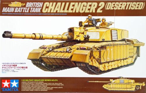 Tamiya 35274 British Battle Tank Challenger 2 (Desertised) 1/35 scale kit