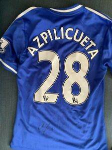 uk availability a93f4 6905c Details about Chelsea FC Cesar Azpilicueta Autographed Signed EPL Game Used  Jersey COA