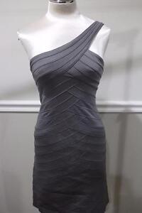 5411edc795c BCBG MAXAZRIA One Shoulder Bandage Dress in Misty Morning SIZE SMALL ...