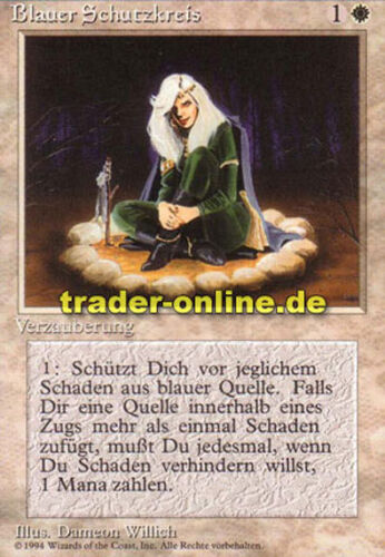 2x Blauer Schutzkreis Circle of Protection: Blue Magic limited black bordered
