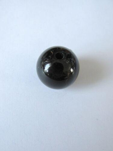 10pcs 20mm black acrylic shiny round beads jewellery making craft UK