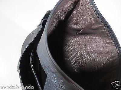 Handtasche Shopper Umhängetasche Schultertasche schwarz dunkelblau m. Leder /W25