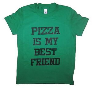 9dc03d9e kids pizza is my best friend t shirt youth boys girls funny cute ...