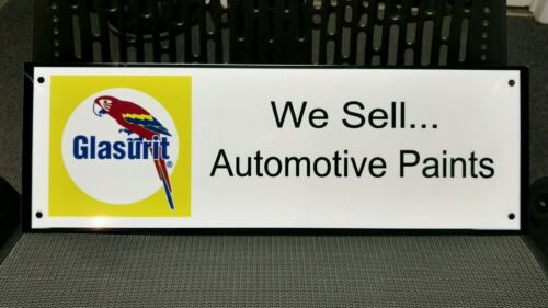 Glasurit automotive paint sign .. Ferrari Original Equipment brand