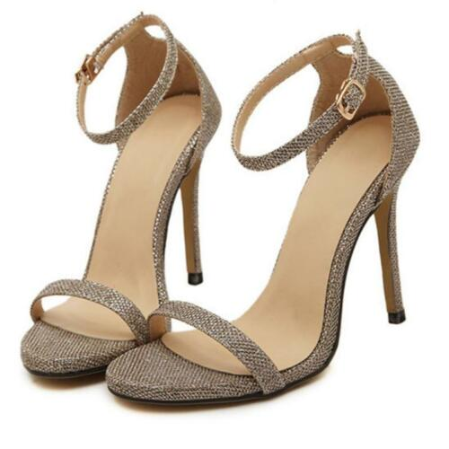 Sweet Ankle Strap Shoes Stiletto Peep Toe Sandals Women High Heels Party Size