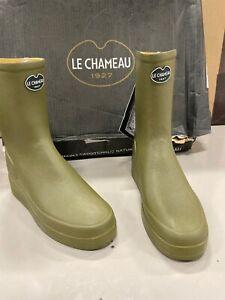 Détails sur Le Chameau Paris faible taille UK 38 UK 5 Bottes en Cuir Vert Doublé Bottines vente afficher le titre d'origine