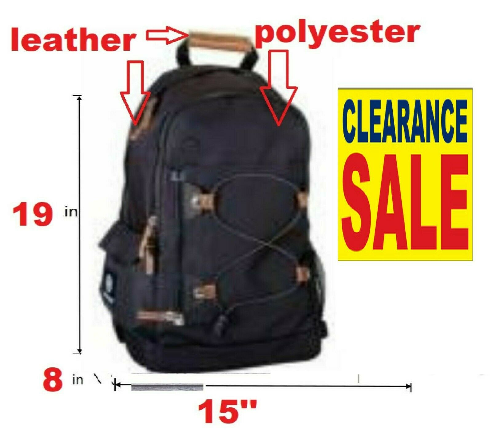 Clearance purchase backpack that is black class Travel computer Rucksack Zippe... - s l1600
