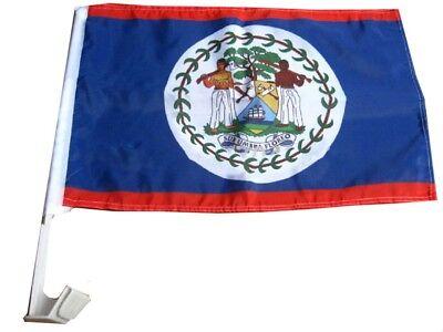 (2 Packung) Belize Land Autofenster Fahrzeug 12x18 30.5cmx45.7cm Flagge