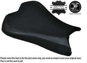 CARBON-GRIP-BLACK-DS-ST-CUSTOM-FITS-KAWASAKI-ZX6R-636-09-15-FRONT-SEAT-COVER
