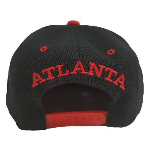 Atlanta Wave Style Black//Red Two Tone Snapback