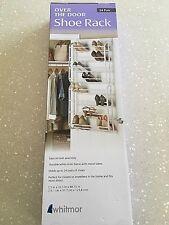 Clear Whitmor Door Shoe Bag Hanging Organizer-12 Pair-24 Oversized Pockets