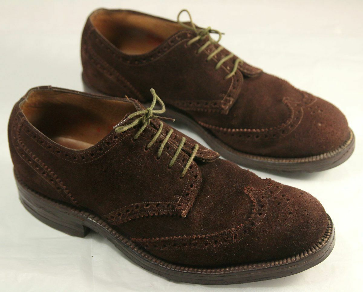 Vintage Simpsons of Piccadilly London Braun Suede 6D Brogues 6D Suede Full Leder Lining 48f125