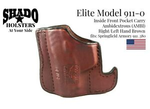 SHADO-Leather-Holster-USA-Elite-Model-911-0-AMBI-Pocket-Brown-Springfield