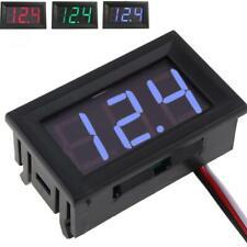 Mini Digital Voltmeter Dc100v Panel Amp Volt Voltage Meter Tester Led Display