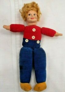 Vntg1930-Dutch-Doll-England-By-Norah-Wellings-Cloth-with-molded-cloth-face-8-034