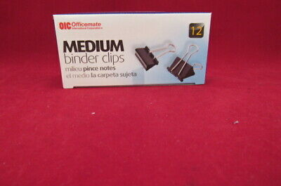 "BLACK 1 1//4/"" BINDER CLIPS 99050 1-1//4/""  MEDIUM BINDER CLIPS 144//PACK"