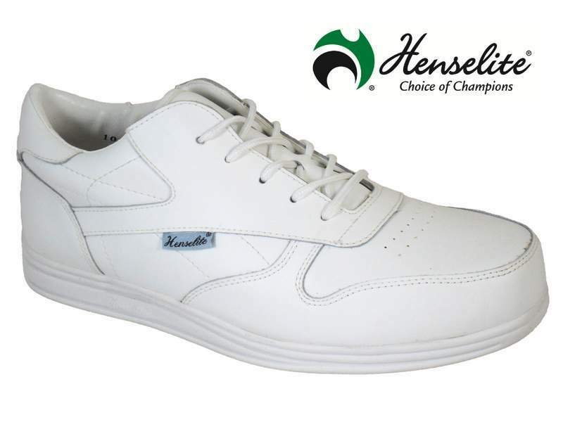 BOWLS SHOES - HENSELITE VICTORY LAWN BOWLS TRAINERS GREY OR WHITE