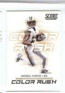 hot sale online 5b006 458d6 Details about MICHAEL THOMAS 2018 PANINI SCORE FOOTBALL INSERT COLOR RUSH  #14 NOLA SAINTS