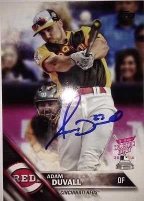 Adam Duvall Autographed 2016 Topps Update #us68 Strengthening Waist And Sinews Balls Sports Mem, Cards & Fan Shop