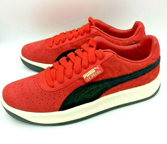 Puma Gv Special Lux Men's Lifestyle Shoes Red Quilted Suede Sneakers New Size 9